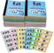12 libri con 1-500 scontrini per guardaroba e biglietti per lotteria e tombola - 5 diversi...