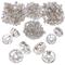 JNCH (Dia. 6mm + 8mm) 400pz Perline Vetro Strass Rotonde Perle Distanziatori Argento Metal...