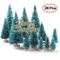 Lulalula - Mini alberi di Natale artificiali, con luci multicolore, da tavolo, per decoraz...