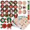 288pz 24 fogli Etichette Decorative Adesivi Natalizi Stickers Decorazione per Natale Chiud...