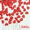 JZK 3000 pz 13mm coriandoli Cuore Rossi Cuoricini Stoffa 3D Decorazione Tavolo per Matrimo...