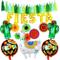 Tacobear Fiesta Messicano Party Decorazioni colorato Ventagli di Carta Fiesta Palloncino B...