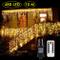 Cascata luci! Tende 480 LED con telecomando, tenda led con 8 modalità, luci matrimonio per...