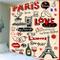 zhkn Arazzo Stampa Digitale Romantica Parigi Modello Arazzo Coperta da Parete Telo Mare Ta...