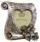Biscottini Portafoto Love da appoggio in Resina Finitura Argento Anticata L16xPR4xH17 cm