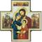 Ferrari & Arrighetti Croce Icona Sacra Famiglia in Legno - 15 x 15 cm
