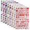 REYOK 8 Colori Letter Stickers Adesivi Lettere Alfabeto Colorate Autoadesivi Stickers Glit...