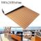 Toogou - Tappeto antiscivolo con retro adesivo, copertura in legno teak sintetico per barc...