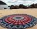 Raajase, Tappeto Rotondo Mandala in Stile Hippy, Utilizzabile Come copriletto, arazzo Deco...