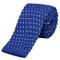 DonDon Cravatta Uomo fatta a maglia 5 cm - blau mit weißen Punkten
