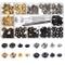 120pcs Bottoni in metallo,Cap Rivetti Metallici Bottoni a Scatto,4pcs Strumento di instal...