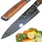 Ruka Acciaio DAMASCO 20cm Coltello da cucina, haemmeroptik, taglienti in acciaio moviment...
