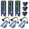 6 Pin PCI-e da 1x a 16x Scheda Adattatore Riser Potenziata & Cavo di prolunga USB 3,0 & 6P...