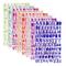 SIMUER Letter Stickers Adesivi Lettere Alfabeto Colorate Autoadesivi Stickers Glitter Adat...