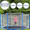 Physionics® Rete di Protezione Trampolino   Protezione Trampolino Rotondo   ø ca. 457 cm,...