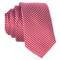 DonDon Cravatta Uomo bianche e rosse rigata 5 cm di larghezza