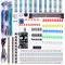 Elegoo Kit Elettronico con Breadboard di 830 Punti, Cavetti, Modulo Alimentazione, Potenzi...