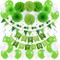 Zerodeco Decorazione Festa di Compleanno, Bandiere Happy Birthday e Pompon Fiori, Ghirland...