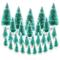 30pz Mini Albero di Natale Artificiale Finte Piccolo Alberelli Regalo Decorazione Fai da T...