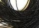 33cm Strand AAA gemma 2mm micro nero spinello sfaccettato rondelle perline