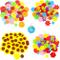 Carykon, Fiori in feltro per decorazioni fai da te, 240 pezzi, 4 stili, colori assortiti