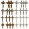 SUNNYCLUE 32 pz 8 Stili Rosario Charms Croce per Artigianato Creazione Gioielli Collana di...