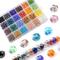 LABOTA 1200pz 6mm Perline Cristallo Sfaccettato, Perline di Vetro AB Sfaccettate con Scato...
