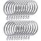 Shappy confezione da 20anelli in metallo tenda anelli per tende e aste, argento 30mm dia...