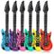 Schramm® 6 Pezzi Air Guitars colorato 100cm in 6 Colori Air Guitar Air Guitar Gonfiabile 6...
