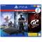 Console PS4 Black 1TB + Horizon Zero Dawn Complete Ed. + Uncharted 4 + GT Sport HITS