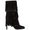 Stivaletti stivali donna con tacco camoscio mystery 100
