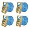 vidaXL Cinghie d'Ancoraggio 4 pz a Cricchetto 2 T 6mx38mm Blu