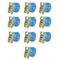vidaXL Cinghie d'Ancoraggio 10 pz a Cricchetto 2 T 6mx38mm Blu