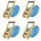 vidaXL Cinghie d'Ancoraggio 4 pz a Cricchetto 4 T 8mx50mm Blu
