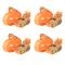 vidaXL Cinghie d'Ancoraggio 4 pz a Cricchetto 0,4 T 6mx25mm Arancione