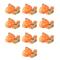 vidaXL Cinghie d'Ancoraggio 10 pz a Cricchetto 0,4 T 6mx25mm Arancione