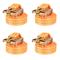 vidaXL Cinghie d'Ancoraggio 4 pz a Cricchetto 1 T 6mx38mm Arancione