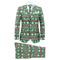 vidaXL Completo Uomo 2 pz con Cravatta Taglia 54 Tema Festivo Verde