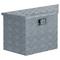 vidaXL Cassetta in Alluminio Forma Trapezoidale 70x24x42 cm Argento