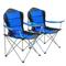 vidaXL Sedie Pieghevoli da Campeggio 2 pz 96x60x102 cm Blu