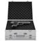 vidaXL Custodia per Pistola in Alluminio ABS Argento