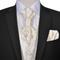 vidaXL Set Gilet di nozze da uomo paisley elegante taglia 56 color crema