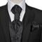 vidaXL Set Gilet di nozze da uomo paisley elegante taglia 50 nero