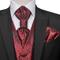 vidaXL Set Gilet Nozze da Uomo Paisley Elegante Taglia 52 Rosso Bordò