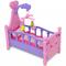vidaXL Giochi Da Camera Per Bambini Culla Per Bambole Rosa + Viola