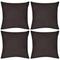 vidaXL Set 4 Federe in cotone marrone 50 x 50 cm