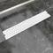 vidaXL Canaletta di drenaggio per doccia Doppio 630x140 mm Acciaio inox