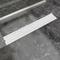 vidaXL Canaletta di Drenaggio per Doccia Bolle 730x140 mm Acciaio Inox