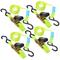 ProPlus Cinghia di fissaggio con cricchetto + 2 ganci Set 4x5m 320205