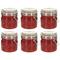 vidaXL Barattoli in Vetro con Chiusura a Gancio 6 pz 500 ml
